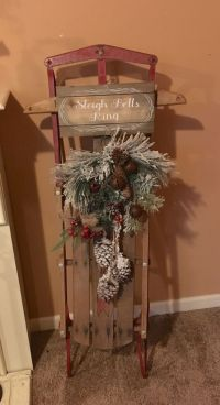 25+ best ideas about Christmas sled on Pinterest | Sled ...