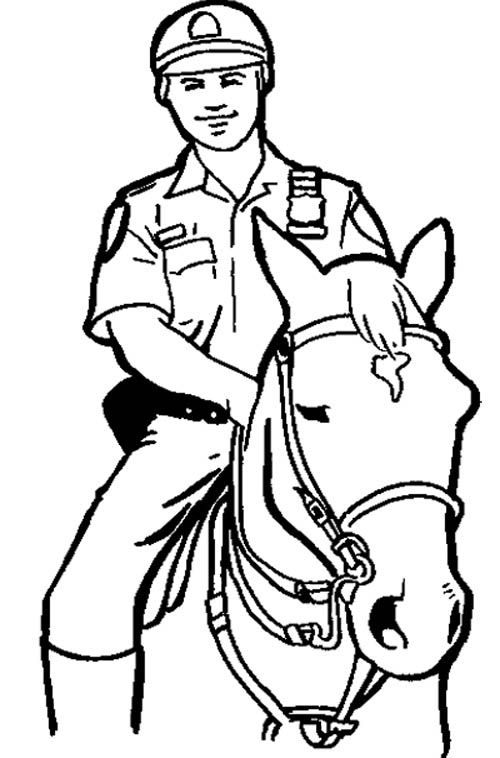 25 best images about Coloring Pages (Police) on Pinterest
