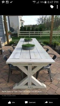 Farmhouse table for outside | deck | Pinterest | Dck ...