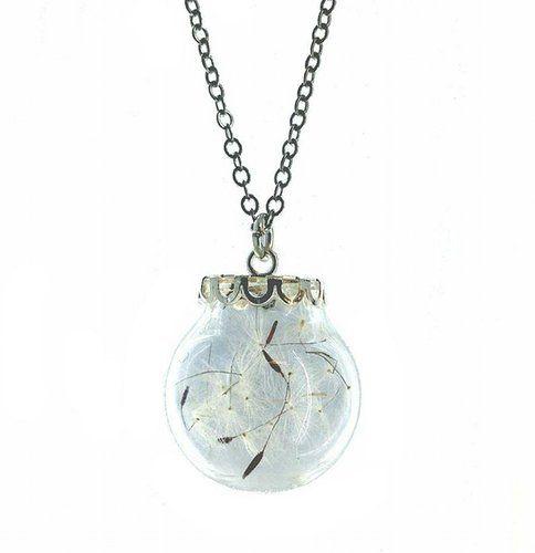 Jar of Dandelion Wishes Necklace