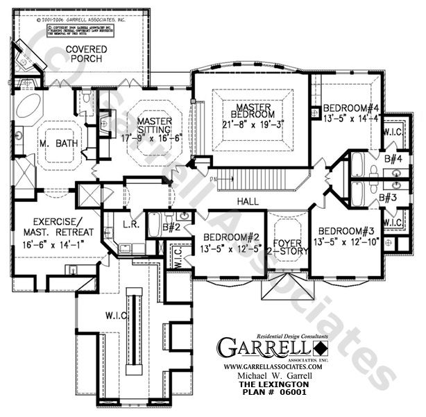 Lexington House Plan 06001 2nd Floor Traditional Style Plans Two