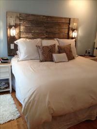 Best 20+ Headboard lights ideas on Pinterest | Rustic wood ...