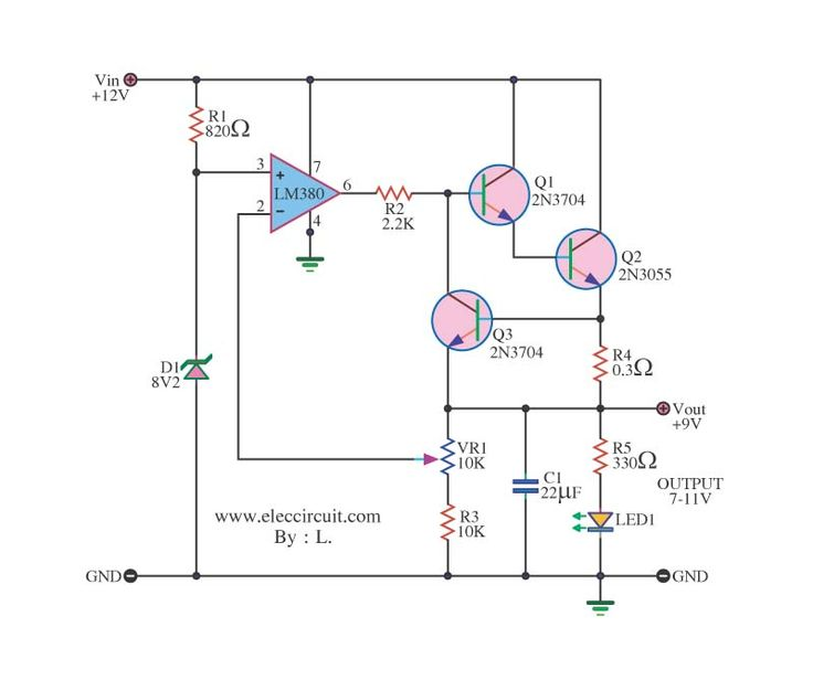 taser circuit diagram vauxhall corsa d radio wiring 12v-to-9v-step-down-dc-converter-using-ic-741-and-2n3055 - google search | electronics ...