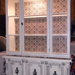 Kitchen Cabinet Buffet Painting Refurbished Hutch By Ashley Kettering - The Kozy Abode ...