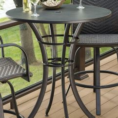 High Bar Table And Chair Set Burlington Coat Factory Chairs Empire Collection- Round Pub | Patio Tables, Furniture Decks