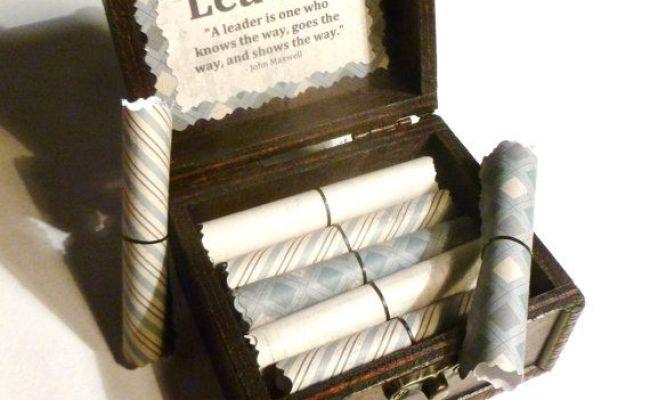 Boss Gift Idea Leadership Scroll Box Motivational Gift