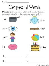 Printable Compound Word Worksheets | Search Results ...
