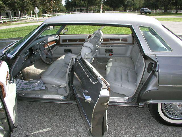 Gray Leather Interior Of A 76 Cadillac Sedan DeVille Body Color Is Academy Gray Metallic