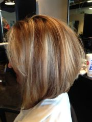 inverted bob with light layering