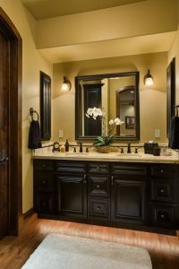 Espresso/black painted bathroom cabinets | future/dream ...