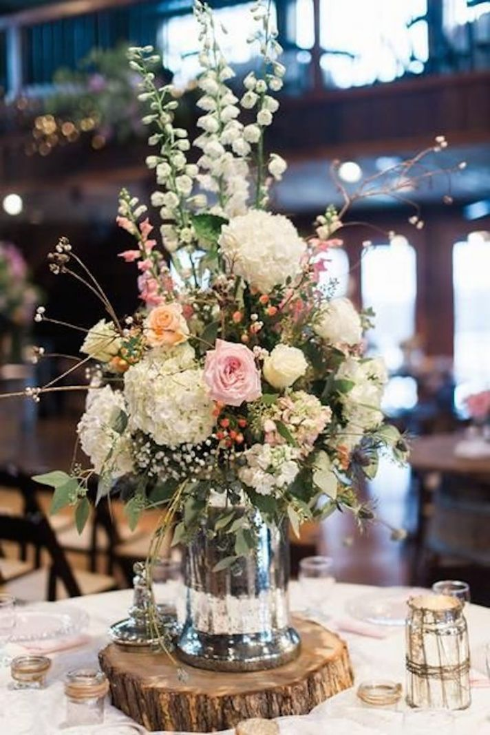 25 best ideas about Wood Slab Centerpiece on Pinterest  Rustic centerpieces Country wedding
