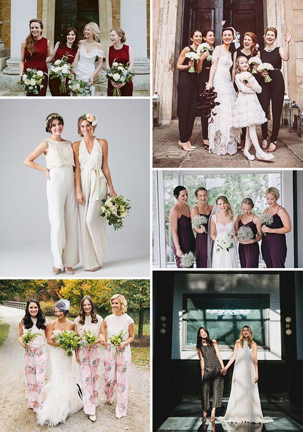 Something Different Bridesmaids In Jumpsuits  Bridesmaid