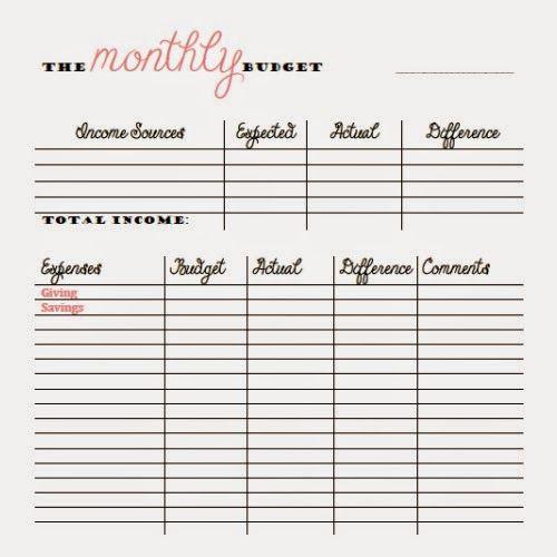 Free Bi Weekly Budget Worksheet Excel
