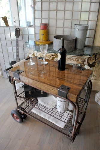 butcher block kitchen islands cabinets at home depot old repurposed industrial cart bar server ~ artisan ...