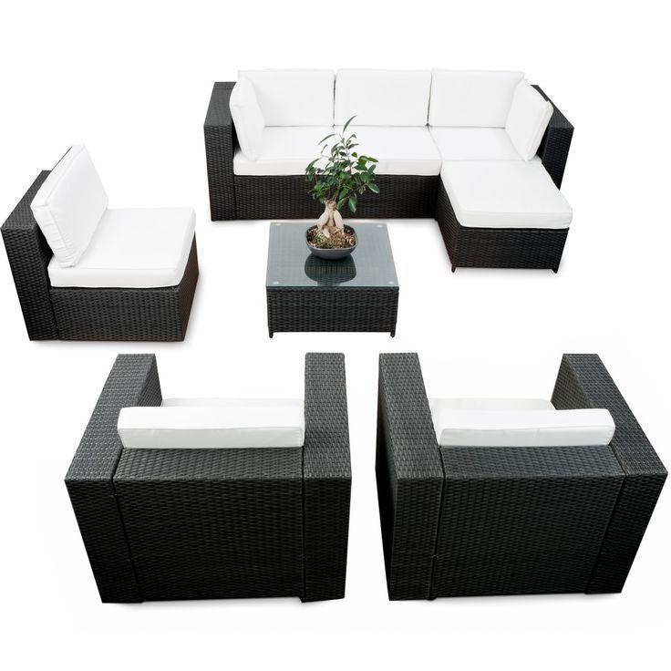 polyrattan sitzgruppe lounge set sitzgarnitur gartenmobel tlg, Garten und bauen