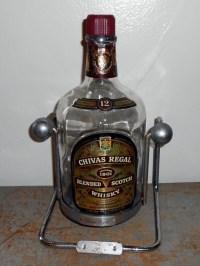 Vintage Decanter, Chrome, Tip Server, Bottle Holder