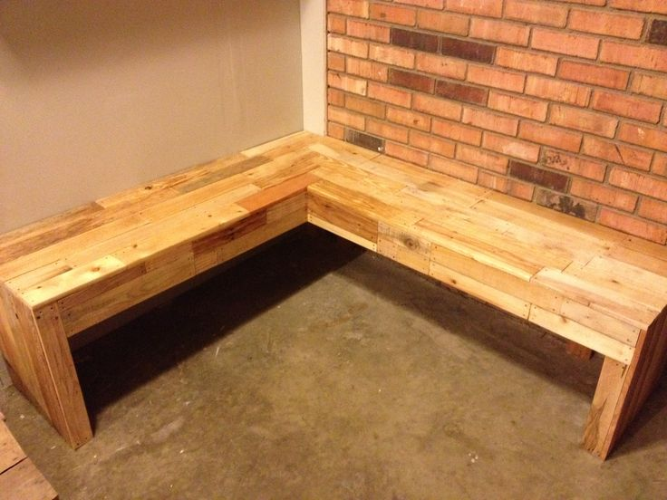 Corner Bench Made From Pallets Completed Projects Pinterest Corner Bench And Pallets
