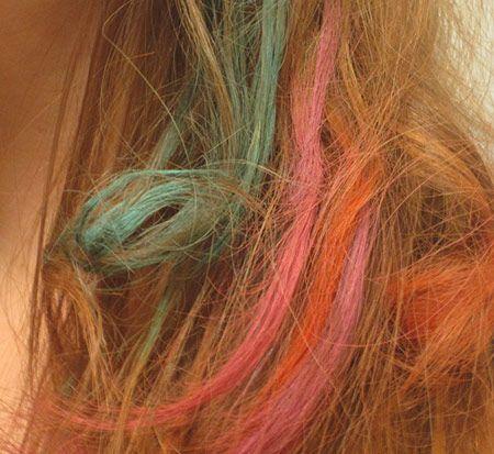 celebrity hairspiration how to lauren conrad s dip dye tips bottles of water chalking hair