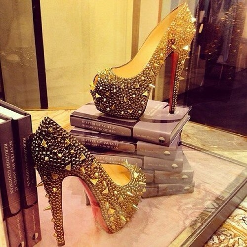Christian Louboutin – would you wear these? #fashion #shoes #Louboutin …any time of the day or night..just click the picture to