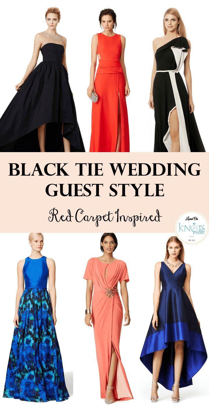 Black Tie Wedding Guest  Red Carpet Inspired   Black