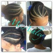 braided bun natural kids cornrow-buns