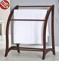 Wooden Quilt Rack Towel Holder Stand Freestanding Blanket ...