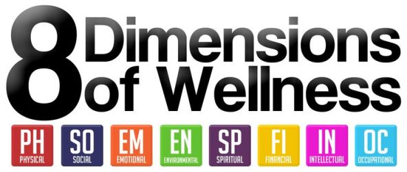 There are 8 dimensions of wellness.