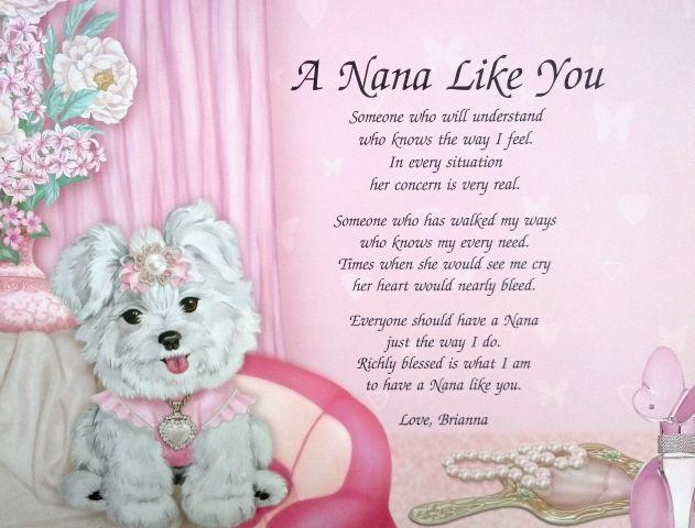 Personalized Nana Poem Birthday Or Christmas T Idea