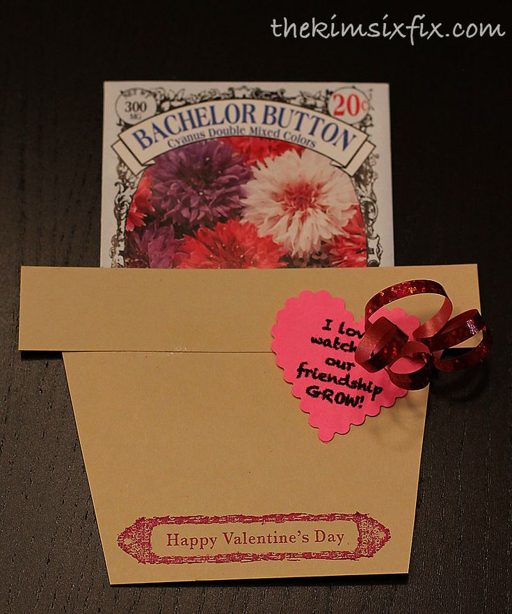 Inexpensive Flower Seeds Valentines Friendship Mothers