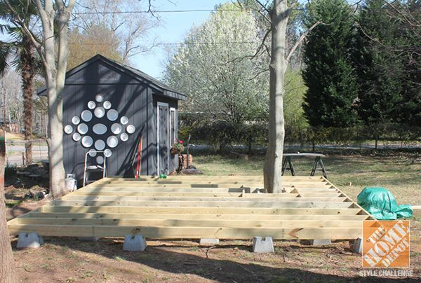 Tips and Ideas on How To Build a Floating Deck  The Home Depot  Trees Home and Floating desk