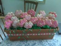Window box cookies   Decorated cookies, flowers, easter ...