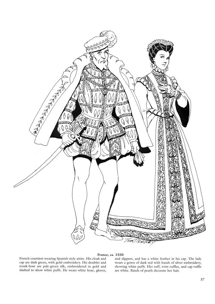 Renaissance fashion dover coloring books : mavimo
