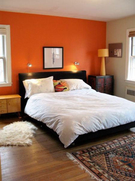 sunset orange for accent wall bedroom 25+ best ideas about Orange accent walls on Pinterest