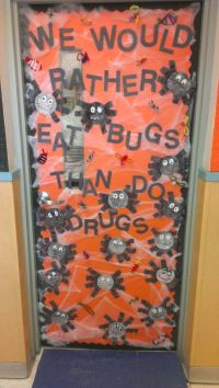 Drug free week! My door