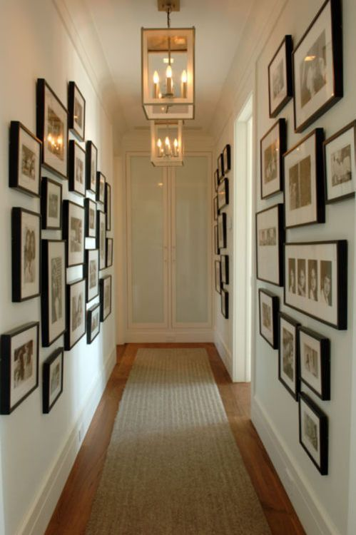 25+ best ideas about Narrow hallway decorating on
