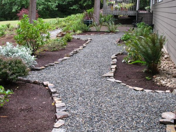 easy and cheap crushed rock pathway