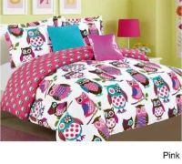 Owl Comforter Set Bedspread Bed Bag Sheet Bedding Bedroom ...