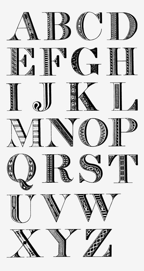 25+ Best Ideas about Block Letter Fonts on Pinterest