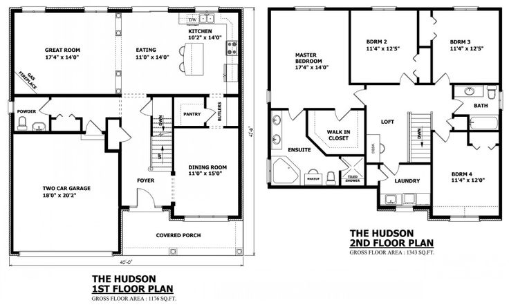 47 best images about Two Story House Plans on Pinterest