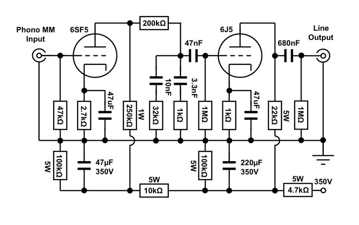 tube phono preamp schematic