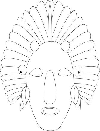 Mask template, African masks and Africans on Pinterest