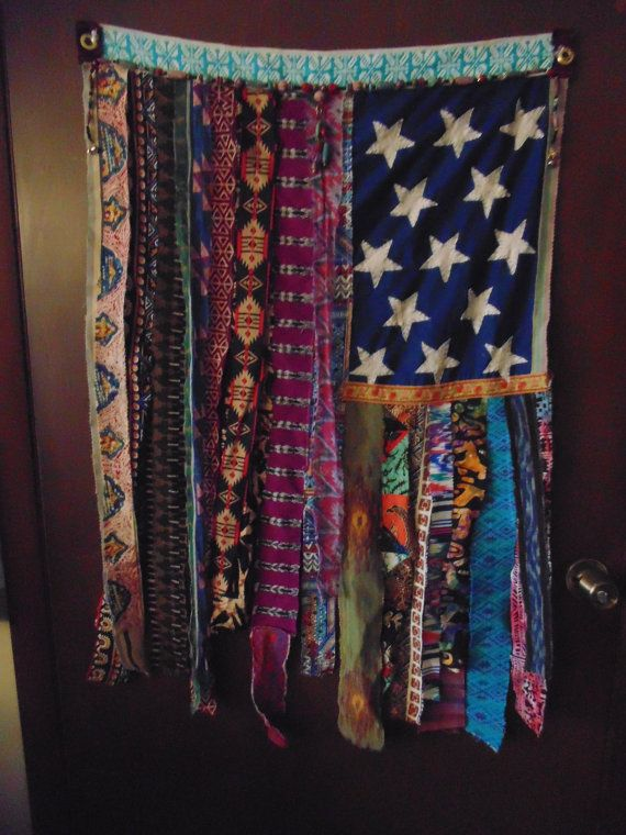 RESERVED For Hailee W Bohemian Flag Curtain Wall Decor