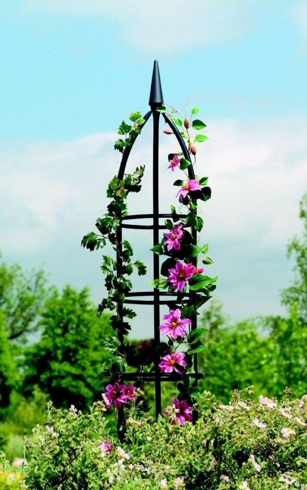 Details About Metal Garden Obelisk Climbing Plant Obelisks