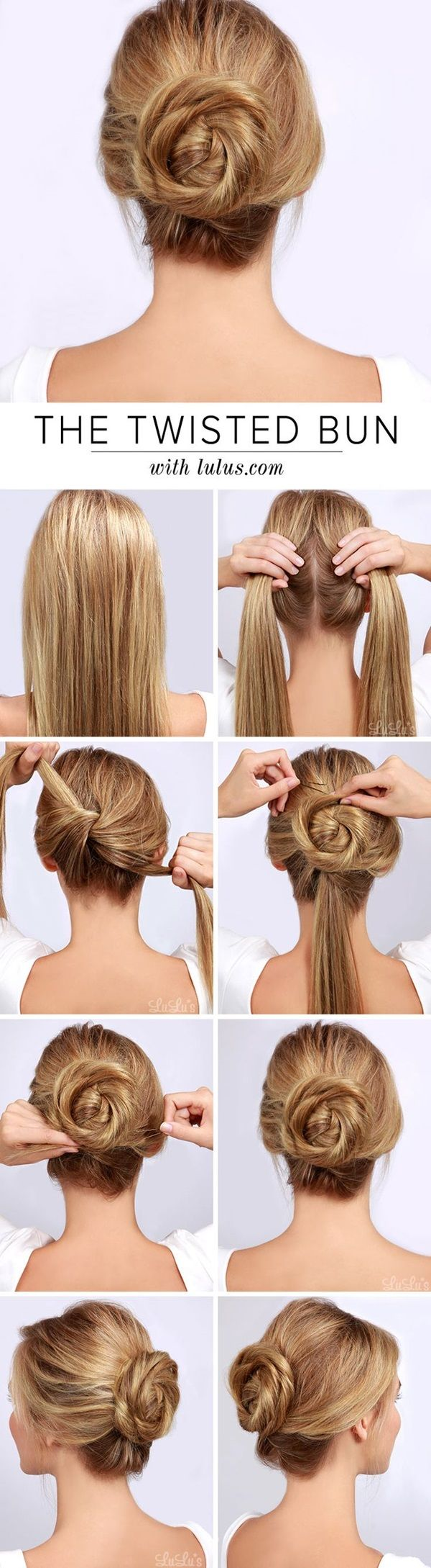 25 Best Ideas About Easy Bun Hairstyles On Pinterest Bun