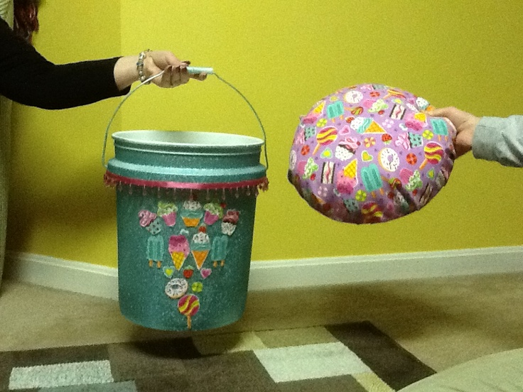 booster seat high chair electric recliner chairs 5 gallon bucket made into travel | irish dancing pinterest buckets, makeup brush ...