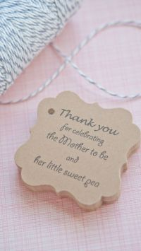 Baby Shower Favor Tags www.somethingwithlove.etsy.com www ...