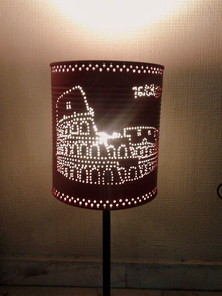 El Coliseo romano iluminado reciclaje lamparas latas decoracion  Reciclaje La Bombilla Verde  Pinterest