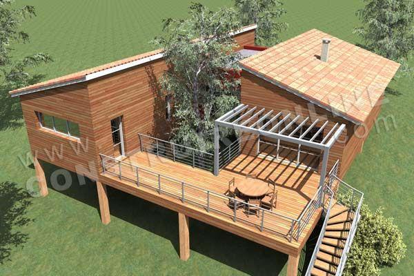 Plan De Maison Contemporaine Bois Pilotis Podihome Vue Dessus Maison Pinterest