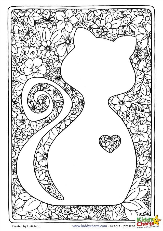 55 best images about Cat Coloring Pages on Pinterest