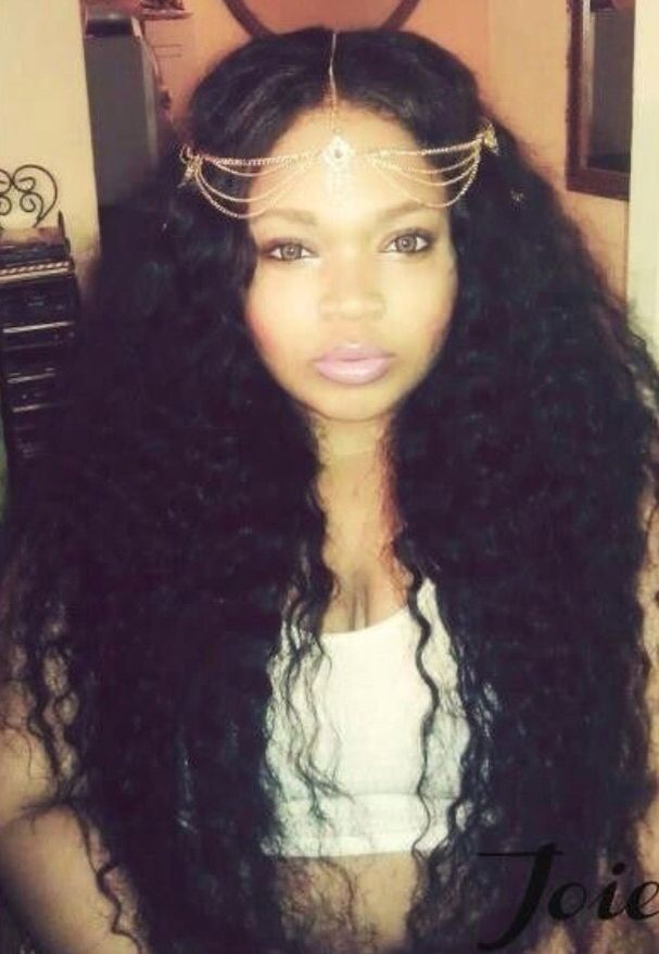 Middle Part Long Weave Brazilian Hair Curly Hair